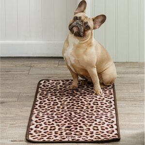Pet Rebellion Stop Muddy Paws Dog Mat - Leopard Print