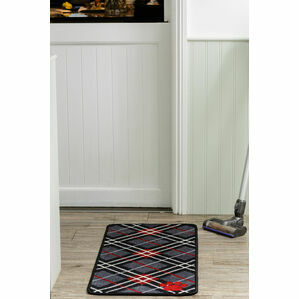 Pet Rebellion Stop Muddy Paws Dog Mat - Tartan Print