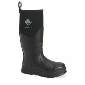 Muck Boots Chore Max Steel Toe Tall Wellington Boots in Black