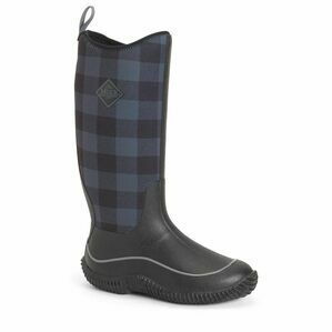 Muck Boots Hale Wellington Boots in Black/Grey Plaid