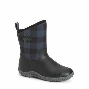Muck Boots RHS Muckster II Short Wellington Boots in Black/Grey Plaid