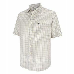 Hoggs Muirfield Short Sleeve Check Shirt - Red/Navy