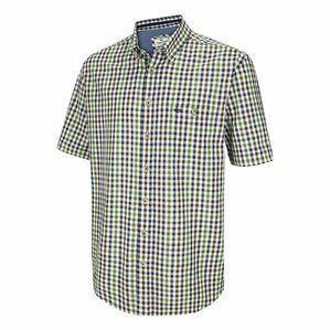 Hoggs Aberdour Short Sleeve Check Shirt - Navy