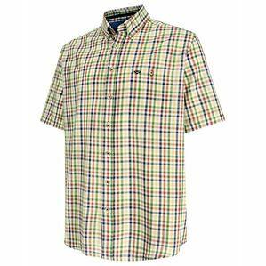 Hoggs Aberdour Short Sleeve Check Shirt - Gold