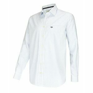 Hoggs Turnberry Cotton Twill Check Shirt - White/Blue
