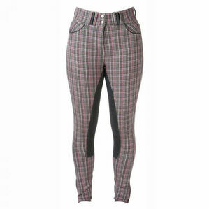 HyPERFORMANCE Frayer Ladies Breeches - Grey/Pink Check