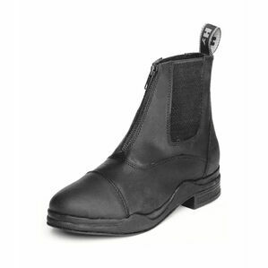 HyLAND Wax Leather Zip Boot - Black