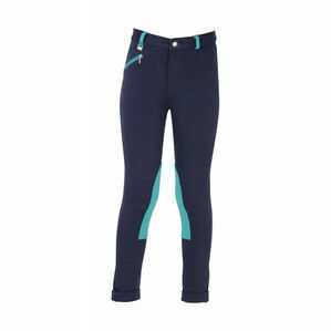HyPERFORMANCE Belton Children\'s Jodhpurs - Navy/Teal
