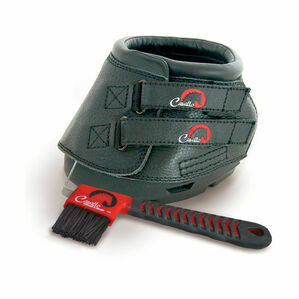 Cavallo Simple Boot Slim With FOC Hoof Pick & Brush - Black