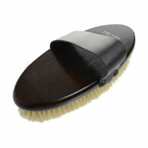 HySHINE Deluxe Body Brush with Goat Hair and Massage Pad - 20cm
