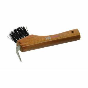 HySHINE Luxury Hoof Pick with Brush - Tan