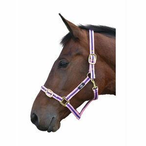 Hy Soft Webbing Head Collar - Pink/Navy