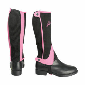 HyLAND Children\'s Two Tone Amara Half Chaps - Black/Pink
