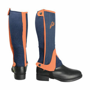 HyLAND Children\'s Two Tone Amara Half Chaps - Navy/Orange