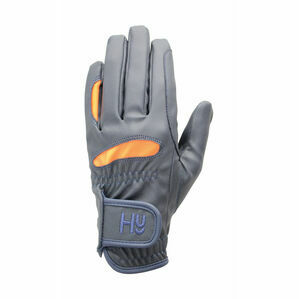 Hy5 Lightweight Riding Gloves - Navy/Orange