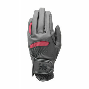 Hy5 Lightweight Riding Gloves - Black/Burgundy - Medium