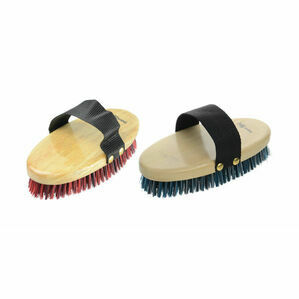 HySHINE Natural Wooden Body Brush - 19.5 x 9.2cm