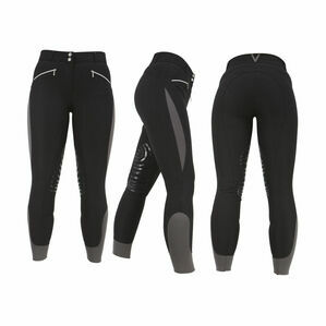 HyPERFORMANCE Sports Active Ladies Breeches - Black/Grey