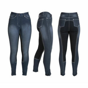 HyPERFORMANCE Denim Look Ladies Breeches - Denim/Navy