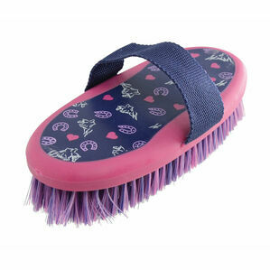 HySHINE Hy Print Body Brush - Navy/Pink - 20 x 9.5cm
