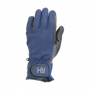 Hy5 Water Repellent Softshell Riding Gloves - Navy