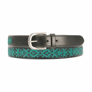 Hy Meydan Leather Belt - Turquoise