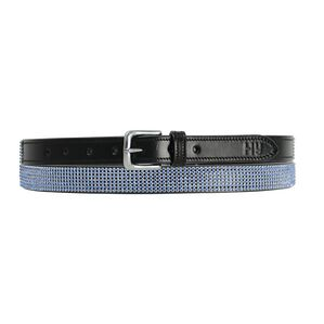 Hy Sparkle Leather Belt - Blue
