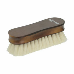 HySHINE Deluxe Wooden Face Brush with Goats Hair - 12.5 x 3.8cm