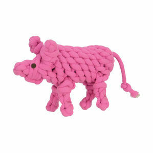 Companion Natural Eco-Friends Pinky Pig Dog Toy - Pink