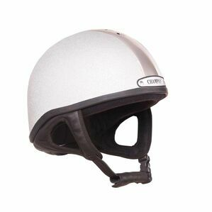Champion Vent-Air Deluxe Riding Skull - Silver/Silver