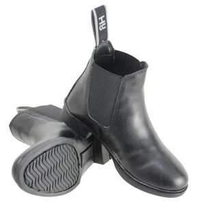HyLAND Beverley Synthetic Combi Leather Jodhpur Boot - Black