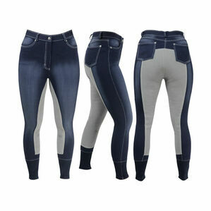 HyPERFORMANCE Denim Look Ladies Breeches - Denim/Grey