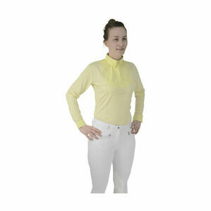 HyFASHION Ladies Dedham Long Sleeved Tie Shirt - Yellow