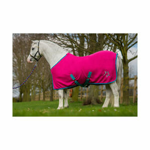 Hy Zeddy Fleece Rug - Flamingo Pink/Turquoise/Cobalt Blue