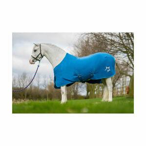 Hy Zeddy Fleece Rug - Cobalt Blue/Petrol Blue/Turquoise
