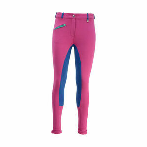 HyPERFORMANCE Zeddy Mizs Jodhpurs - Flamingo Pink/Cobalt Blue/Turquoise