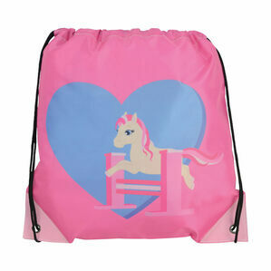 Little Rider Little Show Pony Drawstring Bag - Cameo Pink - 33 x 43cm