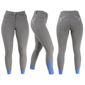 HyPERFORMANCE Olympian Ladies Breeches - Steel Grey/Royal Blue
