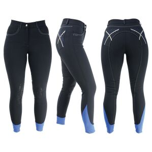 HyPERFORMANCE Olympian Ladies Breeches - Black Panther/Royal Blue