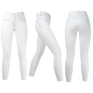 HyPERFORMANCE Olympian Ladies Breeches - Arctic White/Royal Blue