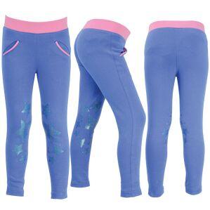 Little Rider Glitter Leggings - Regatta Blue/Cameo Pink