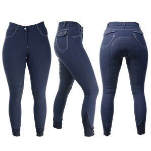 HyPERFORMANCE Highgrove Ladies Breeches - Navy/Silver