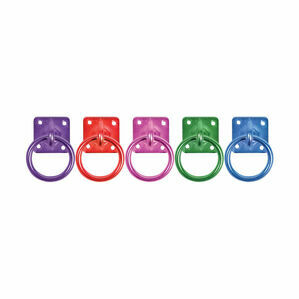 Perry Equestrian Swivel Tie Ring on Plate - Pack of 2
