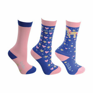 Little Rider Star in Show Socks (Pack of 3) - Regatta Blue - Child 8-12