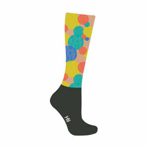 HyFASHION Spot the Horseshoe Pattern Riding Socks - Yellow/Blue/Green/Red/Black - Adult 4-8