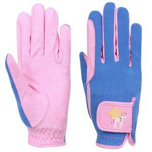Little Rider Star in Show Children\'s Riding Gloves - Prism Pink/Regatta Blue