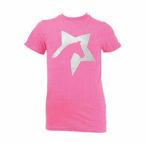 HyFASHION Zeddy Glitter T-Shirt - Flamingo Pink/Silver