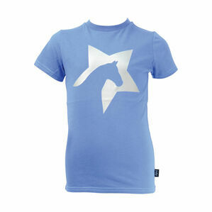 HyFASHION Zeddy Glitter T-Shirt - Cobalt Blue/Silver - 3-4 years