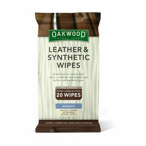 Oakwood Leather and Synthetic Wipes - 20 Wipes - 200 x 300mm