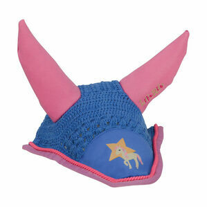 Little Rider Star in Show Fly Veil - Regatta Blue/Cameo Pink - Pony/Cob